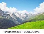 Summer View Of High Caucasian...