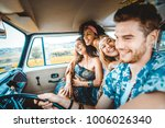 group of friends travelling... | Shutterstock . vector #1006026340
