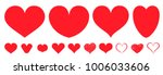 heart love set red beauty cute... | Shutterstock .eps vector #1006033606