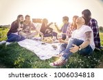 people doing pic nic in a park | Shutterstock . vector #1006034818