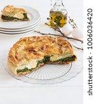 pasqualina tart typical italian ... | Shutterstock . vector #1006036420