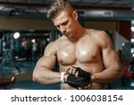 muscular model sports young man ... | Shutterstock . vector #1006038154