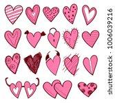 hearts color doodle   Shutterstock .eps vector #1006039216