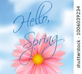 hello spring. bright pink... | Shutterstock .eps vector #1006039234