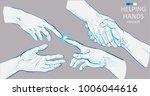 set of hands.helping hand... | Shutterstock .eps vector #1006044616