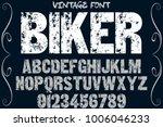 vintage font typeface... | Shutterstock .eps vector #1006046233