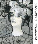 beautiful woman. fashion...   Shutterstock . vector #1006047268