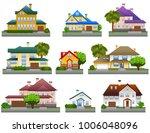 houses  isolated on white ... | Shutterstock .eps vector #1006048096