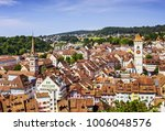 panoramic view of the old town... | Shutterstock . vector #1006048576