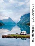 family vacation travel rv ... | Shutterstock . vector #1006049134