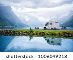 family vacation travel rv ... | Shutterstock . vector #1006049218