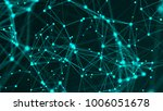 abstract connection dots.... | Shutterstock . vector #1006051678