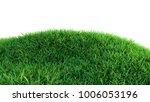 green grass field on small... | Shutterstock . vector #1006053196