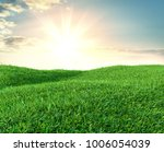 image of green grass field and...   Shutterstock . vector #1006054039