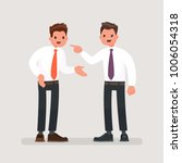 conflict at work. office... | Shutterstock .eps vector #1006054318