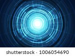 abstract vector blue technology ... | Shutterstock .eps vector #1006054690