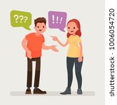 conflict. a man and a woman... | Shutterstock .eps vector #1006054720