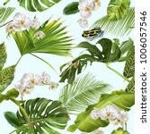vector botanical seamless... | Shutterstock .eps vector #1006057546