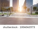 modern building and beautiful... | Shutterstock . vector #1006063573