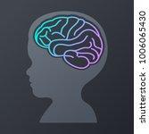 children brain icon design.... | Shutterstock .eps vector #1006065430