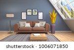 interior living room. 3d... | Shutterstock . vector #1006071850