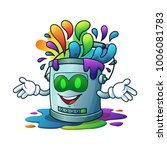 mascot illustration robot paint ... | Shutterstock .eps vector #1006081783