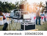 dj mixing equalizer at outdoor... | Shutterstock . vector #1006082206