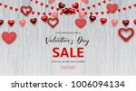 happy valentine's day sale web... | Shutterstock .eps vector #1006094134