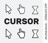 pixel cursors icons mouse hand... | Shutterstock .eps vector #1006101199