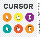 pixel cursors icons mouse hand... | Shutterstock .eps vector #1006101310