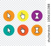 pixel cursors icons mouse hand... | Shutterstock .eps vector #1006101388
