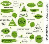 organic food  farm fresh and... | Shutterstock .eps vector #1006102108