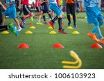 soccer ball tactics on grass... | Shutterstock . vector #1006103923