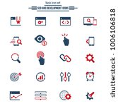 seo and development icons | Shutterstock .eps vector #1006106818