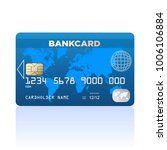 realistic credit card   stock... | Shutterstock .eps vector #1006106884