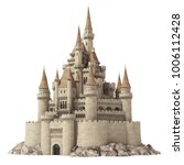 old fairytale castle on the... | Shutterstock . vector #1006112428