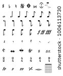 a selection of musical notes... | Shutterstock . vector #1006113730