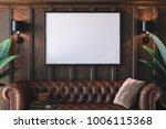 frame mockup in interior | Shutterstock . vector #1006115368