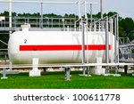 tanks and pipes with gas ...   Shutterstock . vector #100611778