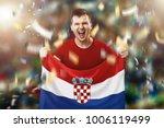 croatian fan  a fan of a man... | Shutterstock . vector #1006119499