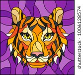 the illustration in stained... | Shutterstock .eps vector #1006128574