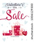 valentines day sale design.... | Shutterstock .eps vector #1006129300