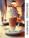 latte  cappuccino  in a high... | Shutterstock . vector #1006131460