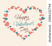 happy valentines day hand... | Shutterstock .eps vector #1006132744