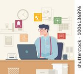 online security  data...   Shutterstock .eps vector #1006136896