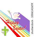 greeting easter card with cut... | Shutterstock .eps vector #1006142659