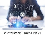 microchip  cpu  processor ... | Shutterstock . vector #1006144594