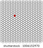 a honeycomb pattern showing non