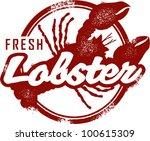 Vintage Style Fresh Lobster...