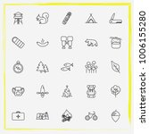 camping line icon set backpack  ... | Shutterstock .eps vector #1006155280